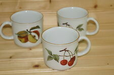 """Royal Worcester Evesham Gold-(3) Child's Cup Mugs 2 7/8""""- -Made in ENGLAND"""