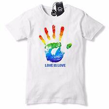 Hand Print Love Gay Pride T Shirt Rainbow Tshirt Lesbian LGBT Festival 672