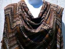 Womens Size 2X Knit Top Cowl Neck Sleeveless Brown Tan Gold Rafaella New Tags