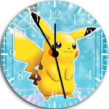 "Pokemon Pikachu wall Clock 10"" will be nice Gift and Room wall Decor W43"