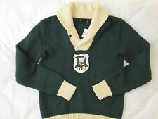 Polo Ralph Lauren Shawl Sweater_P Wing R Rugby Track Field_Knit Sweatshirt Patch