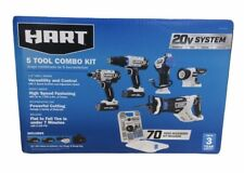 HART 20-Volt 5-Tool Kit with 70-Piece Accessory Set + 2 Lithium-ion Battery🔥🔥