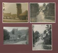 Devon LUSTLEIGH x4 photographs c1930s 80x102mm