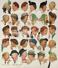 """30W""""x36H"""" GOSSIPS by NORMAN ROCKWELL - CHITCHAT BLABBER MOUTH CHOICES of CANVAS"""