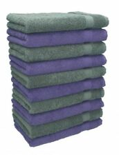 Betz Lot de 10 serviettes débarbouillettes Premium violet & gris anthracite
