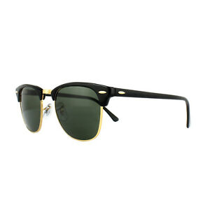 Ray-Ban Sunglasses Clubmaster 3016 W0365 Black Green G-15 Small 49mm