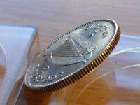 High Grade XF AU 1931 Ireland Shilling 750 Silver w Holder. Excellent+ Rims!