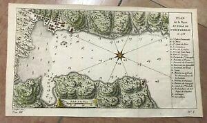 PANAMA BAYE OF PORTO-BELO 1750 by NICOLAS BELLIN 18th CENTURY NICE ANTIQUE MAP