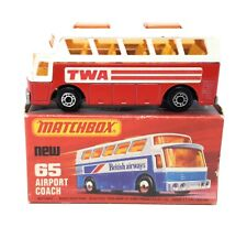 Matchbox Superfast MB65 Bus Airport Coach TWA rot Lesney Box E