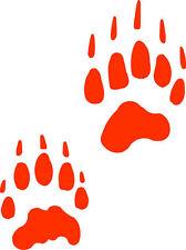 Badger track  / footprint sticker / paw print decal