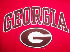Ncaa University Of Georgia Bulldogs Red Long Sleeve Graphic Shirt - S