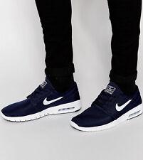 Nike Stefan Janoski Max Scarpe Da Ginnastica Air SB Skateboarding UK 7 (EUR 41) Blu Navy Silver