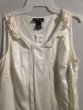 NWT Lane Bryant Womens Size 14 Off White 100% Polyester Sleeveless Top