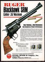 1983 RUGER Blackhawk SRM .357 magnum REVOLVER AD Firearms Advertising