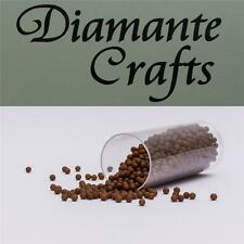 1200 x 2mm Brown No Hole Beads (colour 11) card making, crafts, nail art