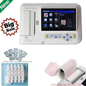ECG600G 6-Channel Touch 12-lead ECG/EKG Machine Electrocardiograph,Printe CONTEC
