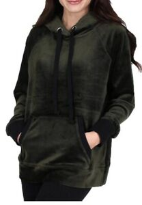 NWT Juicy Couture PLUSH Ultra Luxe Pullover Velour Hoodie Lost Labyrinth M- XL
