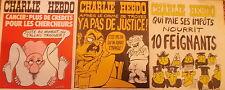 """Lot de 3 """"CHARLIE HEBDO"""" 19 et 26 février 1976, 4 mars 1976   n°s 275-276-277"""