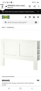 Ikea Brimnes Headboard With Storage Shelves - Double collect East Sussex