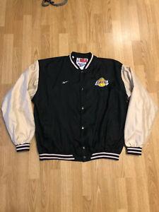 Vintage 90s Rare Los Angeles Lakers Reebok Jacket Bomber NBA Size L