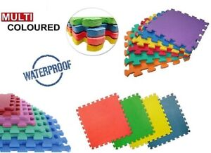 Multicolored EVA Interlocking Soft Foam Kid Play Mat Exercise Floor Tile 30x30cm