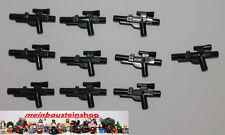 LEGO ® star wars 10x Black Minifig Fusil, weapon gun, Blaster short, 58247