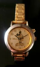 Quartz Watch - with Mickey theme tune Disney Gold On Gold Mickey Mouse Kids