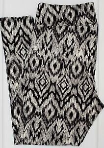 TC2 LuLaRoe Tall & Curvy2 Leggings Black White Gray Aztec Tribal Print NWT F67
