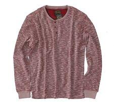Lucky Brand - Men's L - NWT$69 - Red Twisted Slub Long Sleeve Henley Shirt
