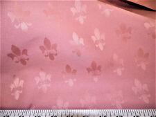 Discount Fabric Upholstery Drapery Twill Jacquard Fleur de Lis Dusty Rose DR36