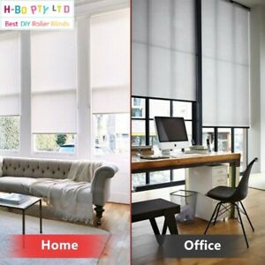 Daylight Roller Blinds Custom Made Size(45-300)x210/280cm  Drill Free Instal