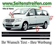 MERCEDES Benz vito & viano souhait texte-publicité pages Bandes Autocollant set