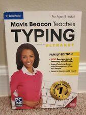 Mavis Beacon Teaches Typing Family Edition Ages 8 & Up UltraKey (PC/Mac2013) NEW