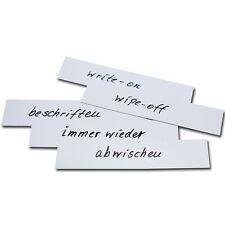 10X WHITE 70mm x 50mm Magnetic Labels | Warehouse Whiteboard Shelf Racking