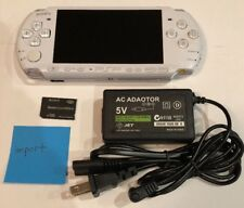 PEARL WHITE PSP 3000 System w/ Charger & Memory Card Bundle TESTED WORKS Import