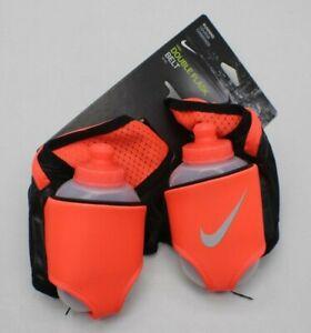 NEW Nike Running Reflective Double Flask 2 10oz Water Bottles Belt Adult OSFM