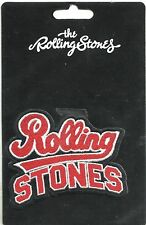ROLLING STONES team logo 2013 shaped EMBROIDERED - SEW/IRON ON PATCH sealed NEW