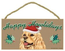 "Happy Howlidays Cocker Spaniel Christmas Holiday Dog Sign NEW 5""x10"" Plaque 324"
