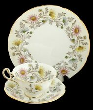 VINTAGE FOLEY SOMERSET DAISY BONE CHINA TEA CUP & SAUCER ENGLAND DONALD BRINDLEY
