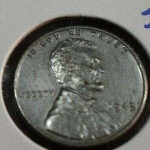 #250 1943-P wheat penny AU