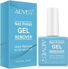 Aliver Soak-Off Gel Acrylic Nail Polish Magic Quick Burst Manicure Remover 15ml