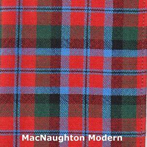 Scarf Clan MacNaughton Tartan Scottish Wool Plaid