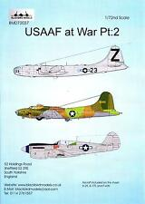 Blackbird Decals 1/72 U.S.A.A.F. AT WAR Part 2 B-29, B-17E, and P-40N