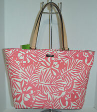 Kate Spade Jules Grant Street Grainy Vinyl Pink/White Large Toe/Handbag/Purse