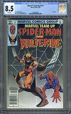 Marvel Team-Up #117 (Marvel 5/82) CGC 8.5, Wolverine + Spiderman! White Pages!