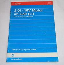 SSP 157 Selbststudienprogramm VW Golf 3 GTI 2,0 l 16V Motor Digifant ab 1992