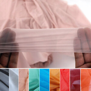 Superthin Nylon 4 Way Stretch Spandex Mesh Fabric Net Nude Flesh color BY YARD