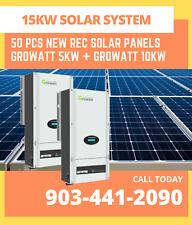 NEW DIY 15kW Grid-Tie Solar Kit (50 pcs 315W 72-cell panels + Wifi Inverters)