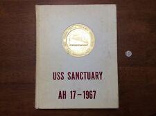 1967 Vietnam Navy Signed USS SANCTUARY AH-17 HOSPITAL SHIP MAIDEN CRUISE BOOK
