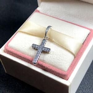 Genuine PANDORA Classic Cross Pendant Charm - 397571CZ